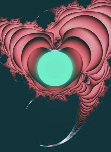 Heart (Fractal Art).  Copyright Lynne Lawer.